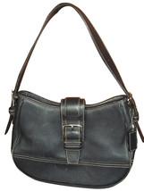 Coach Black Leather Small Hobo Bag Handbag 7584 - $556,49 MXN