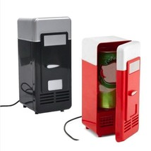 Desktop Mini Fridge USB Gadget Beverage Warmer Refrigerator With Interna... - $23.00