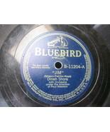 "10"" 78 rpm RECORD BLUEBIRD B-11204 DINAH SHORE JIM / I'M THROUGH WITH LOVE - £7.62 GBP"