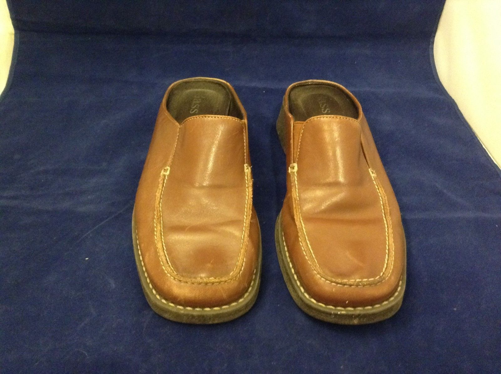 Bass Women's Brown Leather Clogs Sz 7M