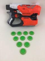 Diatron Nerf Vortex Duel Shot Disc-Launching Gun Blaster Hasbro w/ Discs... - $26.68