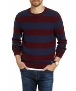 1901 ,Stripe Crewneck Sweater Men's, Navy Iris Marled Stripe Pullover, S... - $30.68