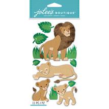 Jolee's Le Grande Dimensional Stickers-Lions - $11.06