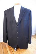 RALPH Ralph Lauren 48L Long Black Camel Hair 3-Button Blazer - $61.75