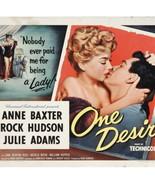 ROCK HUDSON Anne Baxter Natalie Wood ONE DESIRE Genuine Vintage '55 Movi... - $134.10