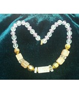Vintage Chunky Necklace with Beads Jewelry Womens Girls Fashion Style Be... - $8.33