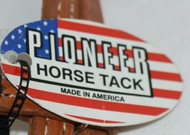 Pioneer Horse Tack 3852 Leather Headstall Reins Black Decorative Lacing image 7