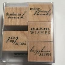 Hero Arts Happy Everything Greetings Cardmaking 5 Stamps Sayings Stamping Crafts - $11.70