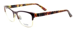 Calvin Klein CK8021 603 Women's Eyeglasses Frames Bordeaux 53-18-135 + CASE - $71.86