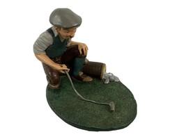 Jim Shore Golf Figurine Old man Long Golf Club Putting Green - $22.64