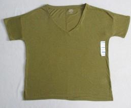 Old Navy Women Top M Green V Neck Boyfriend Linen Polyester 1843 - $10.13