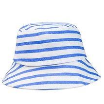 Summer Stripe Sun-Resistant Cotton Fisherman Baby Cap Infant Hat image 2