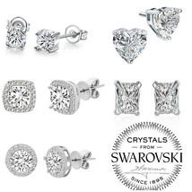 New 5 Pair Elegant Women Crystal Rhinestone Pearl Ear Stud Fashion Earrings Gift - $14.69