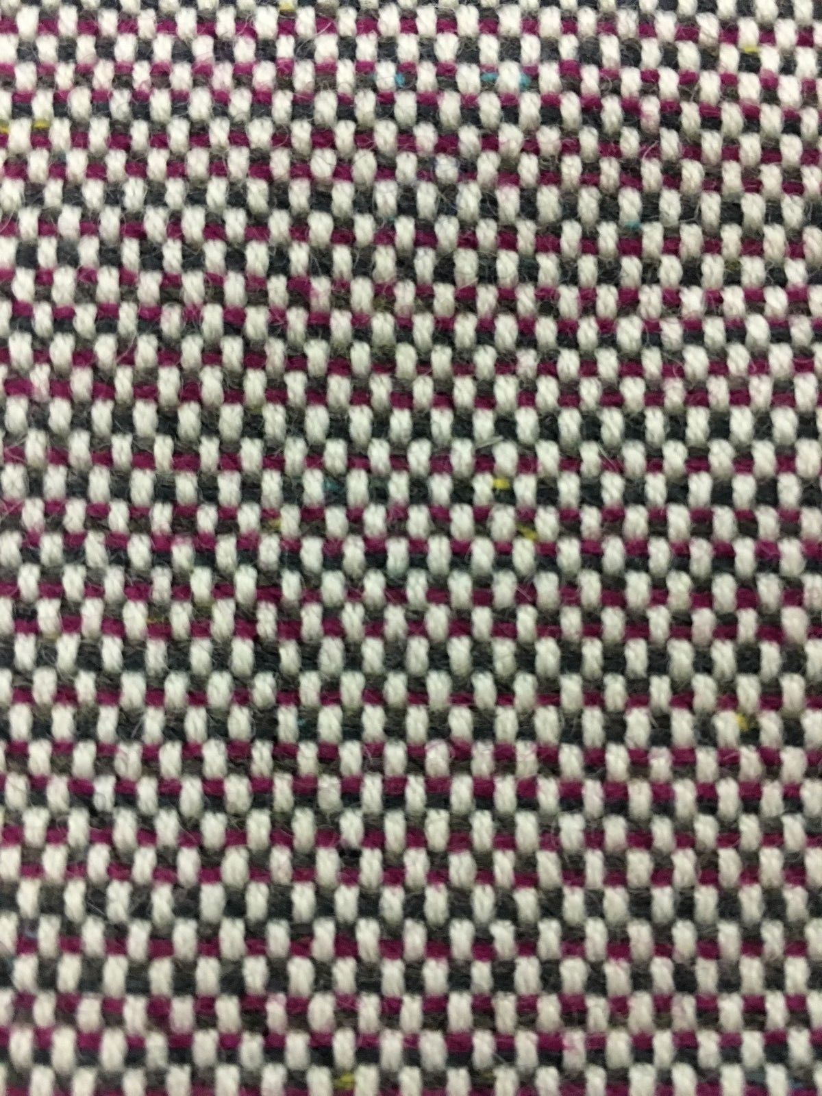 Geiger Upholstery Fabric Mid Century Wool Tweed Ruby 4.75 yds 16603 - P