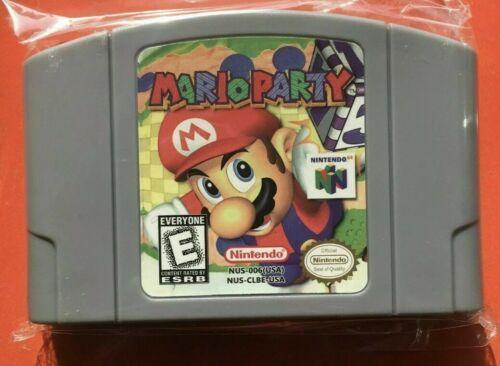 Nintendo N64 Game Mario Party Video Game Card Cartridge USA Version Not OEM