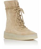 NIB Yeezy Season 2 Beige Tan Suede Crepe Sole Boots 7 40 New Authentic - $484.16