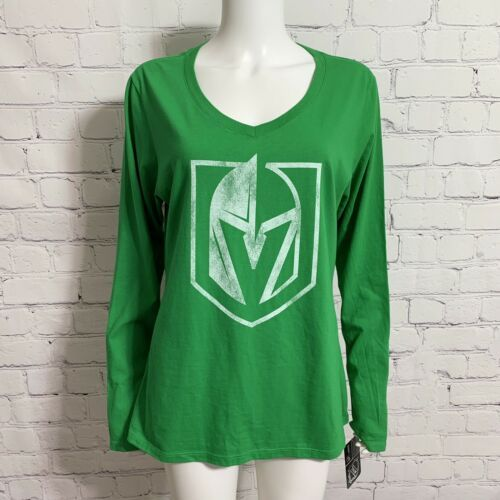 Primary image for Fanatics NHL VGK Vegas Golden Knights Women's Long Sleeve Shirt Green Large New