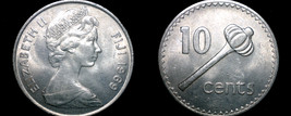 1969 Fiji Islands 10 Cent World Coin - $4.99