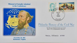 11/28/1990 Philatelic History Civil War MO Admitted to Confederacy/ Stat... - $9.99