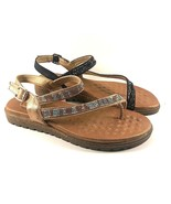 Exe BZD6976-8 Dressy Flat Studded Cushioned Sandals Choose Sz/Color - $63.20