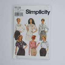 Simplicity 9539 Sewing Pattern Misses Blouse 6-12 - $9.89