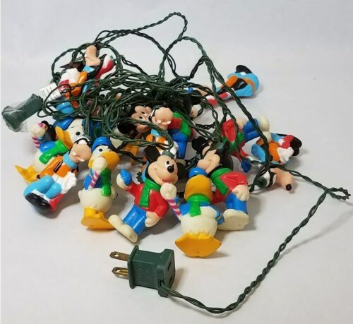 Vintage Hard to Find Disney Party String Lights Holiday Mickey Donald Duck Goofy