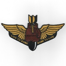 """6"""" Usaf Air Force VFA-75 Live To Bomb Sunday Punchers Embroidered Jacket Patch - $18.99"""