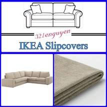 Ikea Kivik 4 Seat Sectional Slipcover Cover Only, Tallmyra Beige - New - $499.88