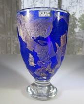 Gozo Malta heavy Pop Art Glass Deep Blue goblet in manner of Jean Claude... - $70.00