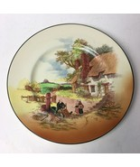 "Colorful Antique Royal Doulton England ""Rustic England"" scene 10"" Plate - $35.00"