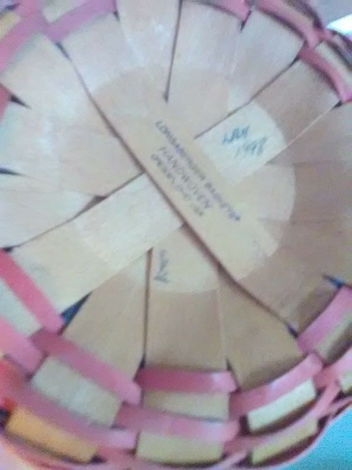 1998 Round Longaberger Mother's Day Basket with Liner image 4