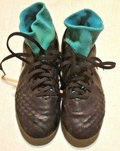 Nike Magista Soccer Cleats Black and Teal Youth Size 4 - $33.62
