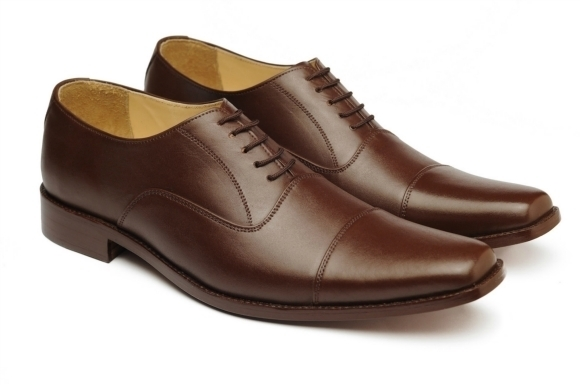 MEN HANDMADE LEATHER SHOES, BROWN DRESS SHOES MEN'S