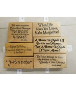 GREAT SELECTION OF WOOD & RUBBER SAYINGS STAMPS  DON'T MISS! - $4.21+