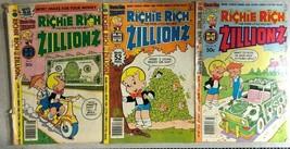 Richie Rich Zillionz Lot Of (3) Issues (1979/1980) Harvey Comics - £7.52 GBP