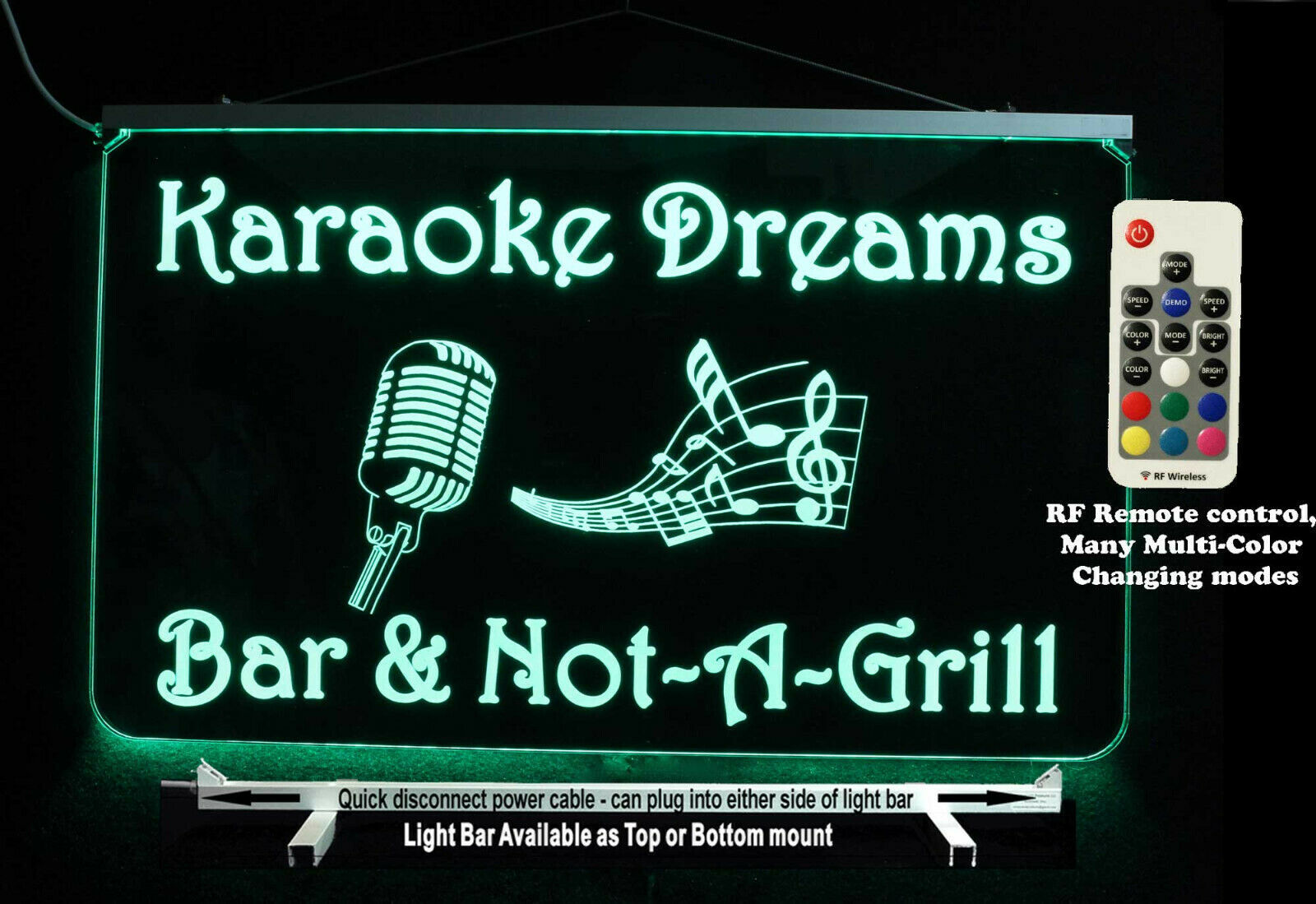 Primary image for Karaoke sign, Personalized DJ Sign, LED Sign, Man Cave Bar Sign - Lighted Sign