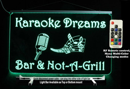 Karaoke sign, Personalized DJ Sign, LED Sign, Man Cave Bar Sign - Lighte... - $96.03+