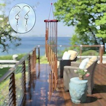 SuninYo Wind Chimes Outdoor,36'' Amazing Grace Wind Chimes with S Hook,a... - $23.81