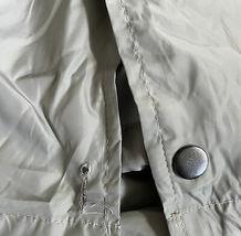 Men's Lightweight Water Resistant Grey Windbreaker Coach Jacket w/ Defect - L image 3