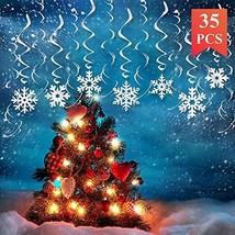 Kalefo 35PCS Christmas Decorations Snowflake Decorations Hanging Swirl C... - $11.36
