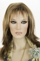 Drk Brwn & Med Gold Blnde + Lt Gold Blonde Tips Medium Jon Renau Straight Wigs - $134.64