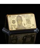 WR US $10 Ten Dollar American Bill 1 Oz Fine Gold Clad Art Bar Get Well ... - $4.88