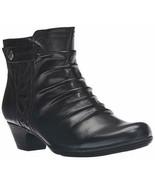 Womens Rockport Cobb Hill Abilene Boots - Black Leather, Size 6 [CBD51BK] - £42.14 GBP