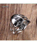 Jewelry Trends Stainless Steel Large Skull Rings - $159.00