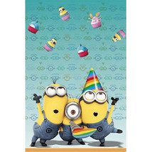 Despicable Me 2 Minions Birthday Party 54 x 84 Plastic Table Cover Table... - $4.99