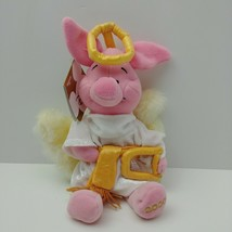 "Disney Store Piglet Angel Christmas Plush Stuffed Animal 8"" - $17.82"