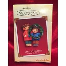 Hallmark Keepsake Ornament Little Helpers Wreath 2005 - $5.10