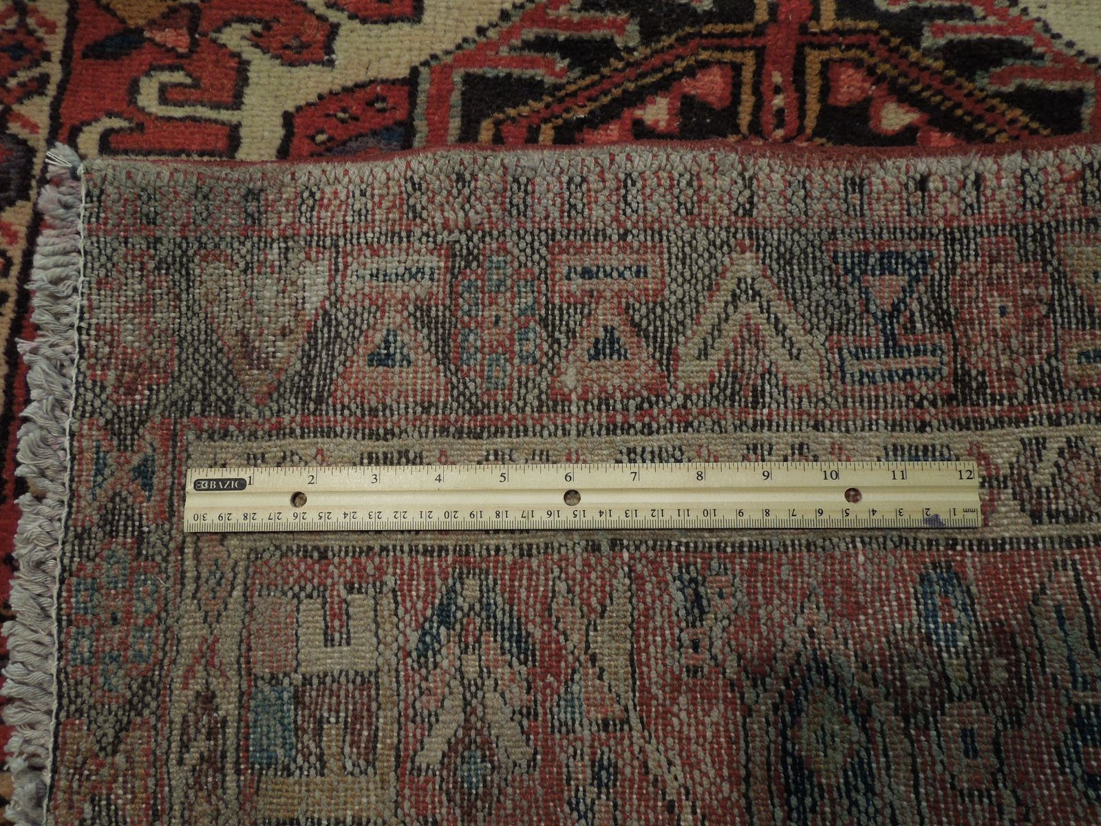 Red 3 x 13 All-Over Classic Tribal Design Runner Karaja Persian Handmade Rug image 8