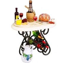 2019 DOLLHOUSE Filled Wine Tasting Table Reutter 1.855/0 Miniature - $72.38