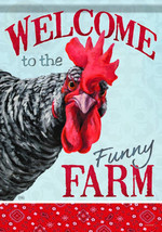 Carson Home Accents Flagtrends Classic Garden Flag, Welcome Funny Farm C... - $27.10